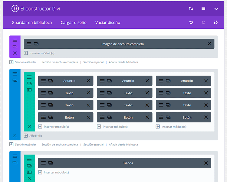 divi builder backoffice o backend