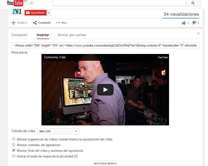 Insertar video youtube en WordPress por código