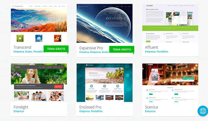 Plantillas WordPress corporativas