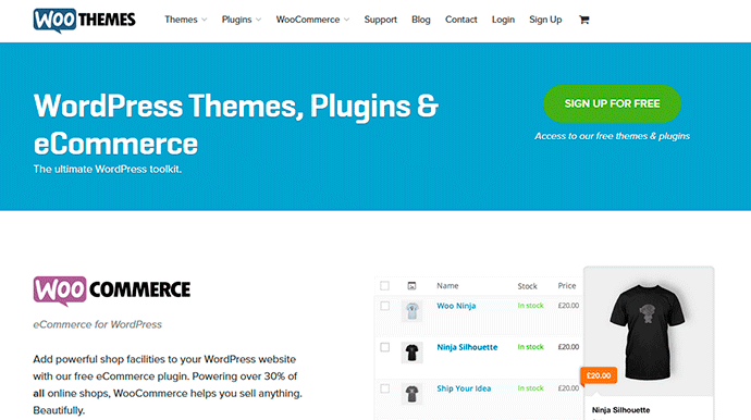 Plantillas wordpress de Woothemes