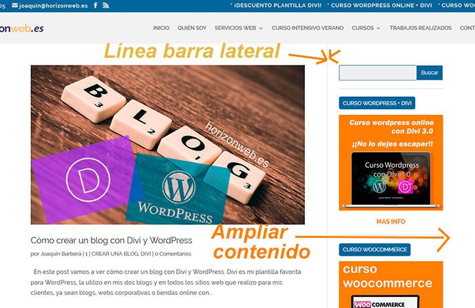 código para quitar la barra lateral de wordpress