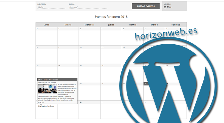 Cómo crear una agenda o calendario de eventos en WordPress