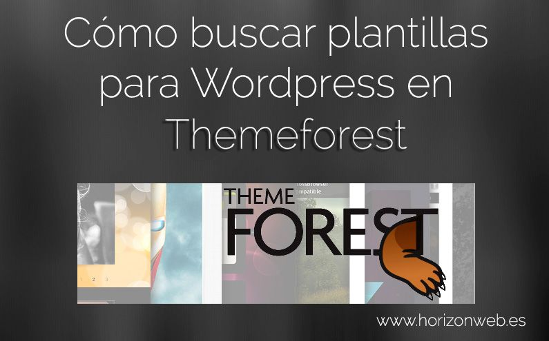 Cómo buscar plantillas para wordpress en themeforest