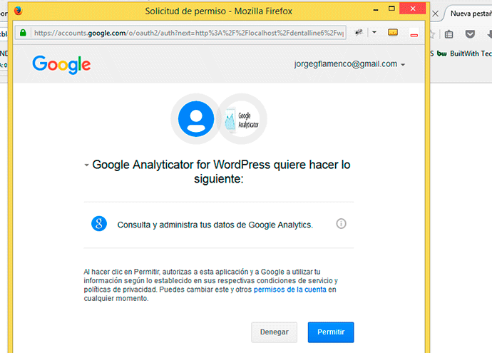 Añadir analytics a WordPress