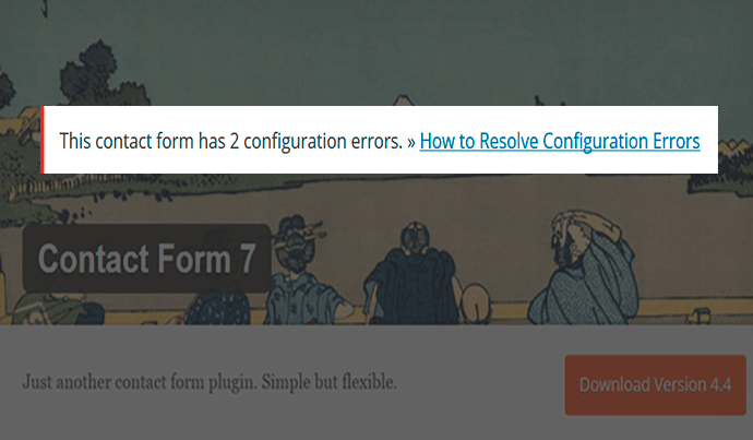 Resolver errores tras actualizar contact form 7
