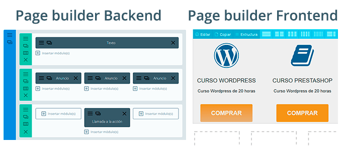 Page builder Frontend y Backend