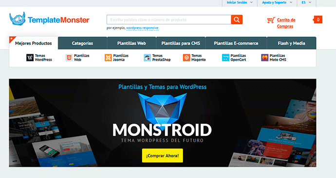 Plantillas wordpress de template monster