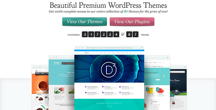 Plantillas wordpress de Elegant Themes