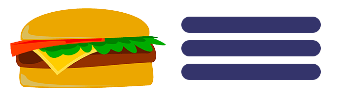 Menu tipo hamburguesa en WordPress