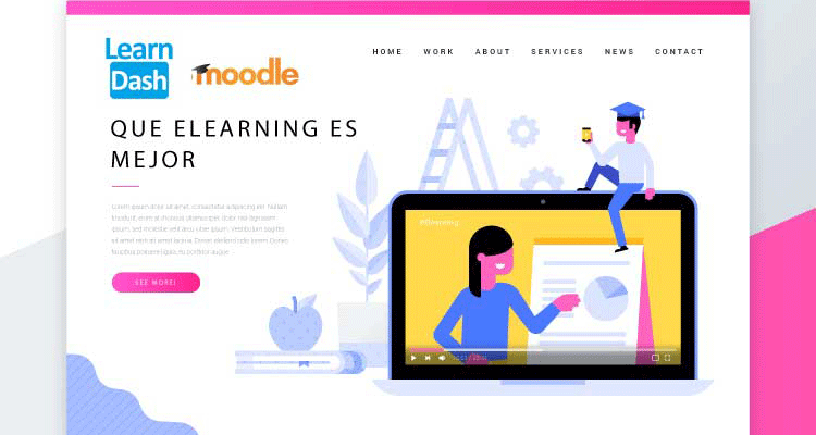 Plataformas e-learning: Learndash WordPress VS Moodle